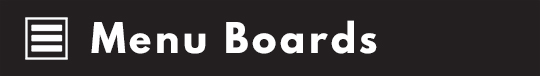 Menu Board Signs | Beaufort SC | Printology
