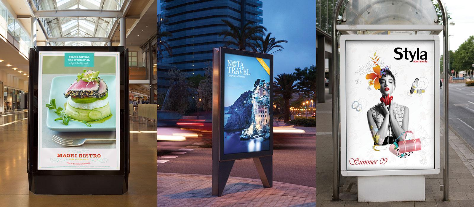 Back Lit Advertising Displays | Printology Signs & Graphics | Beaufort SC