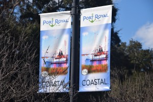 Port Royal, Beaufort, Bluffton street banners, canvas banners, pole banners