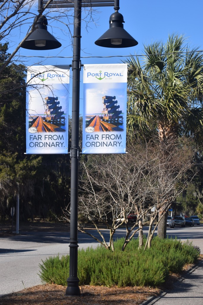 street pole banners in Port Royal, Beaufort, Bluffton, canvas banners, Port Royal signs