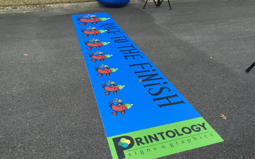 Racing to the Finish with New Event Signage