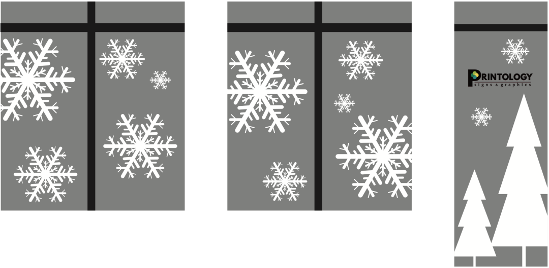 Let It Snow With Window Graphics
